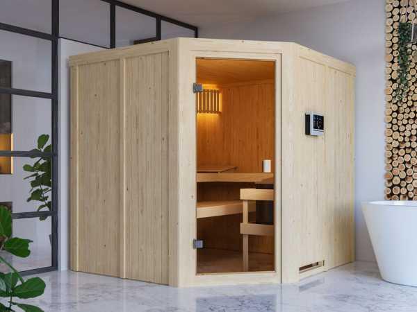"""Sauna Systemsauna SPARSET """"Celine 3"""" inkl. 9 kW Ofen mit ext. Steuerung"""