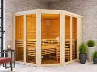 Sauna Systemsauna SPARSET Nuri inkl. 9 kW Ofen mit ext. Steuerung