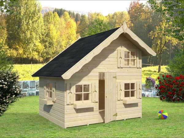 Spielhaus Tom naturbelassen