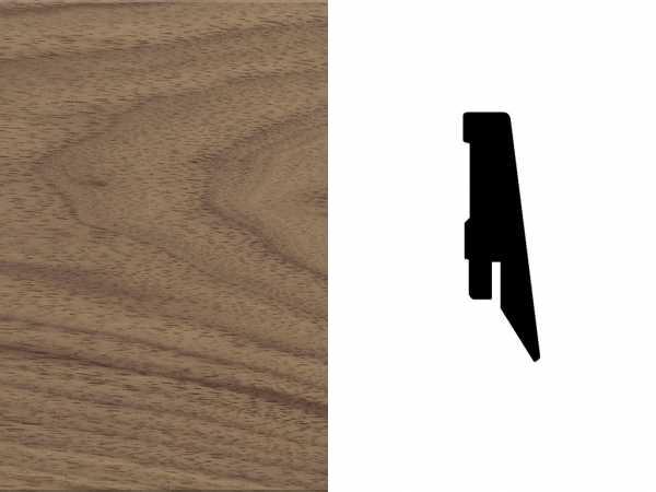 Sockelleiste Nussbaum amerikanisch Furnier Profil SKL 60