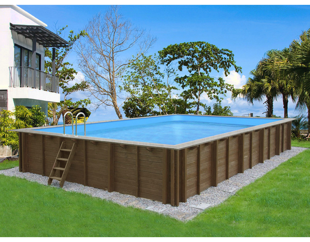 holzpool poolset bali rechteckig holzpool pool garten holzprofi24. Black Bedroom Furniture Sets. Home Design Ideas