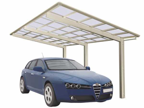 Carport Linea Typ 110 Edelstahl-Look