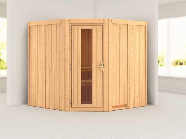 Systemsauna Jarin Holztür mit Isolierglas