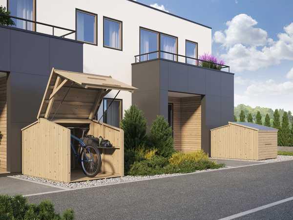 Fahrradgarage Bikebox 14 mm naturbelassen