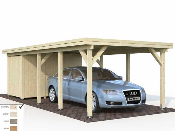 Geräteraum für Carport Karl 23,1 m² 19 mm naturbelassen