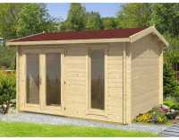 Gartenhaus Blockbohlenhaus Carlisle 40 mm carbongrau